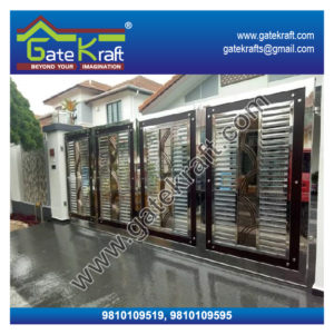 Steel Folding Gate Dealers Suppliers Vendors Manufacturers Stainless Steel Main Gate Price Picture in Delhi Gurgaon