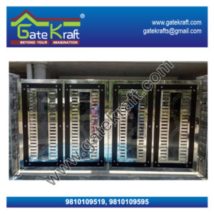 Steel Folding Gate Dealers Suppliers Vendors Manufacturers Stainless Steel Main Gate Price Picture in Gurgaon