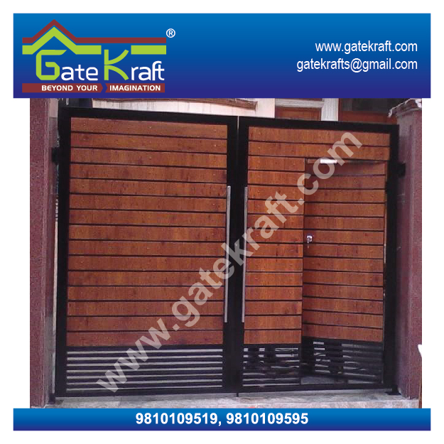Front Elevation Designs With Balcony : Entrance steel ss ms gate designs front for home in
