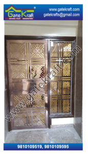 Single Door Steel Gate PVD Design Vendors Suppliers Dealers Manufacturers in Delhi Gurgaon