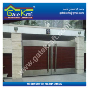 Wooden Hpl Fundermax Designer Stainless Steel Gate Dealers Suppliers Manufacturers Fabrication Suppliers in Delhi/Gurgaon