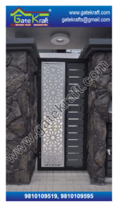 Single Door Steel Gate PVD Design Vendors Suppliers Dealers Manufacturers in Gurgaon