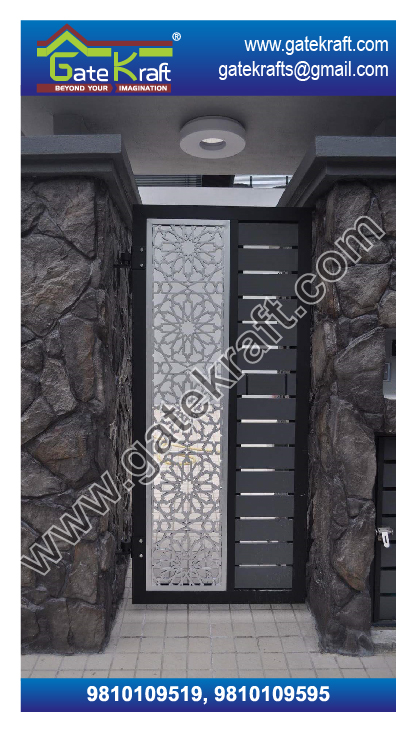 Single Door Steel Gate Pvd Design Manufacturers In Delhi