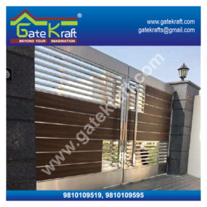 Wooden Hpl Fundermax Designer Stainless Steel Gate Dealers Suppliers Manufacturers Fabrication Suppliers in Gurgaon