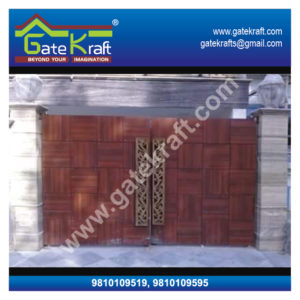 Stainless Steel Gate Designs with Wood Dealers Suppliers Manufacturers Fabrication in Delhi Gurgaon