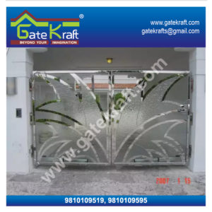 Stainless Steel Gates Images with Glass Dealers Suppliers Manufacturers in Gurgaon