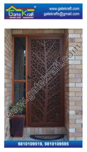 Wooden Hpl Designer Stainless Steel CNC Security Door Suppliers Dealers Manufacturers Fabrication in Delhi Gurgaon