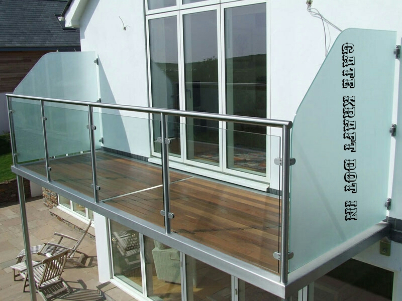Glass balcony railing manufacturers in delhi glass for Glass balcony railing